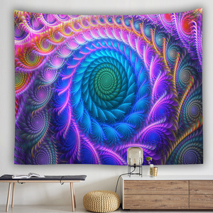 Image 5 - bohemian wall tapestry hanging huge mushroom house fairyland psychedelic tapestriws home decor