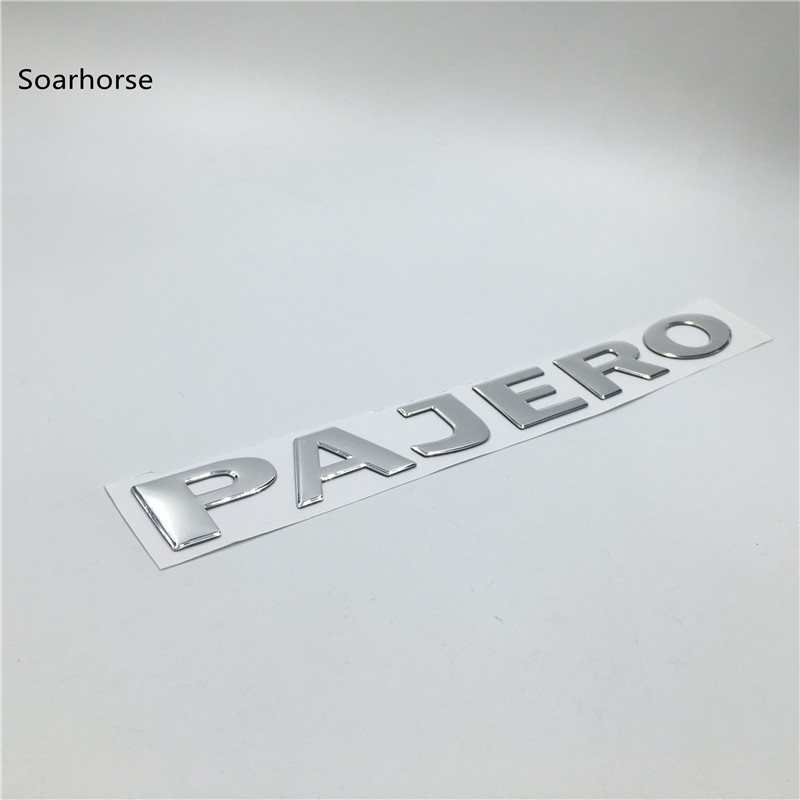 Image 3 - Soarhorse For MITSUBISHI PAJERO Gold 3D Letters Rear Boot Trunk Tailgate Emblem Nameplate Decals Car Accessroies-in Car Stickers from Automobiles & Motorcycles