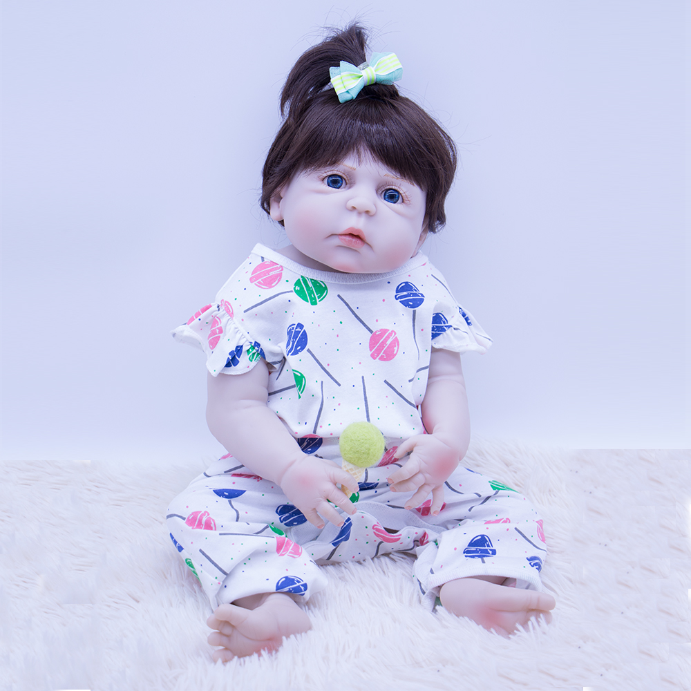 55cm blue eyes Newborn Dolls Lifelike Bebe girl Reborn Dolls whole Silicone Baby Doll Christmas Gift For Childrens with pacifier55cm blue eyes Newborn Dolls Lifelike Bebe girl Reborn Dolls whole Silicone Baby Doll Christmas Gift For Childrens with pacifier