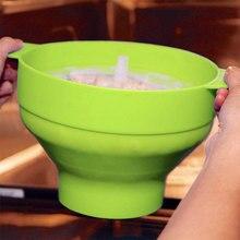 5 шт. попкорн для микроволновой печи, силиконовый попкорн, складная чаша без пвх и BPA бесплатно синий