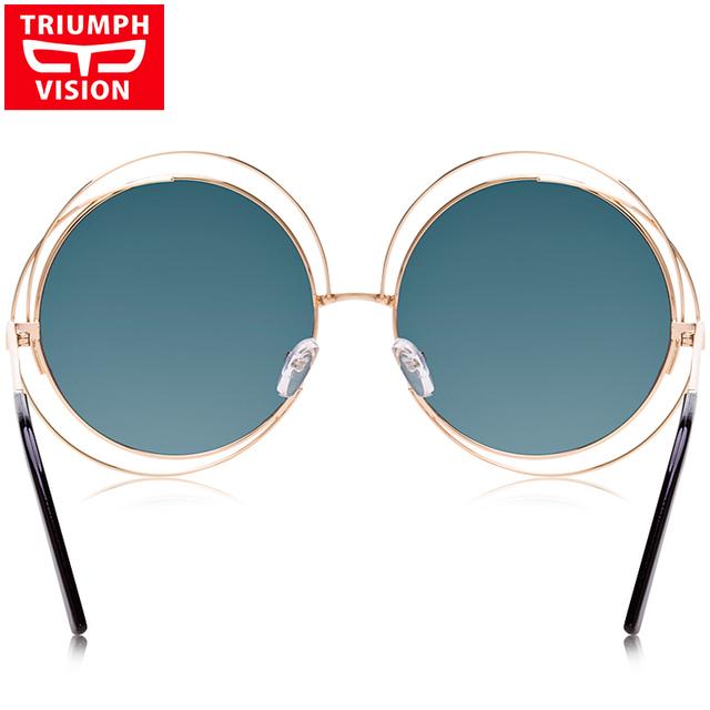 Vintage Oversized Round Sunglasses Women Brand Designer Retro Shades