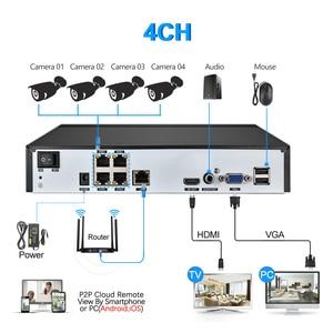Image 5 - H.265 نظام المراقبة 4CH 5.0MP POE طقم NVR في الأماكن المغلقة في الهواء الطلق رصاصة الصوت سجل 5MP 3MP 2MP IP كاميرا الأشعة تحت الحمراء ليلة P2P مجموعة الفيديو