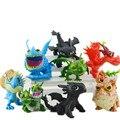 8 Unids/lote Juguetes Cómo Entrenar A Tu Dragón 2 Desdentado Dragón Desdentado Furia Nocturna Figuras Niños Juguetes Figuras de Acción Juguetes