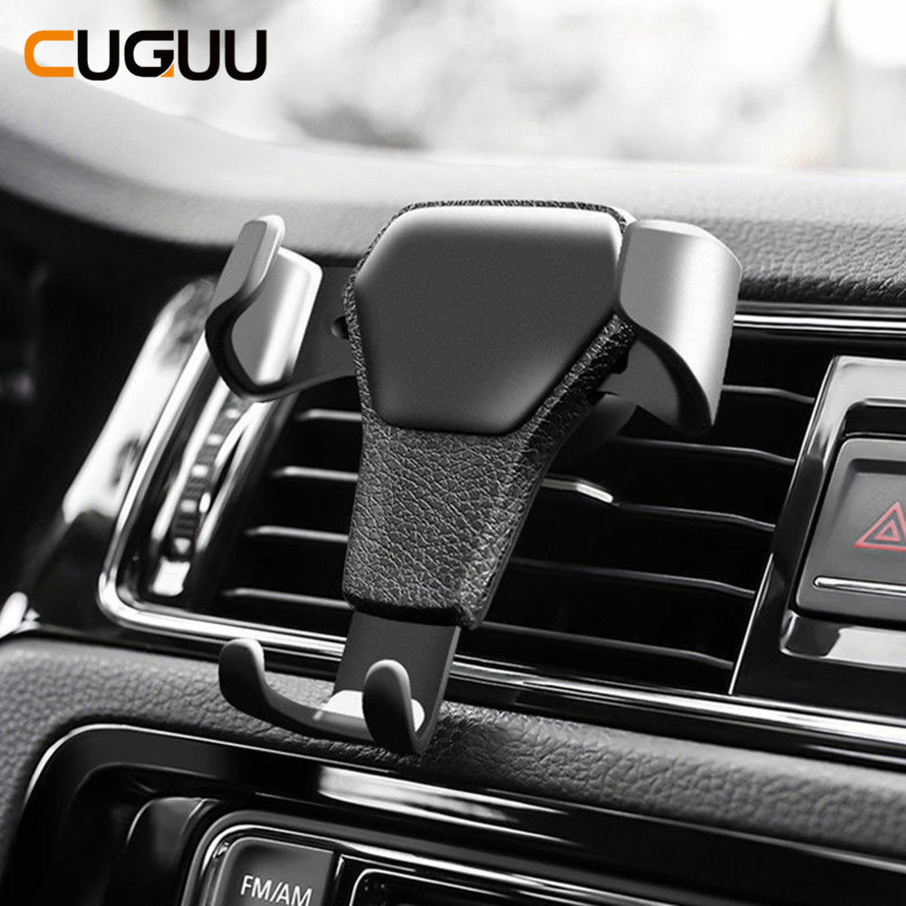 Gravity Car Holder For Phone In Car Air Vent Clip Mount No Magnetic Mobile Phone Holder Cellphone Stand Support For IPhone X 7