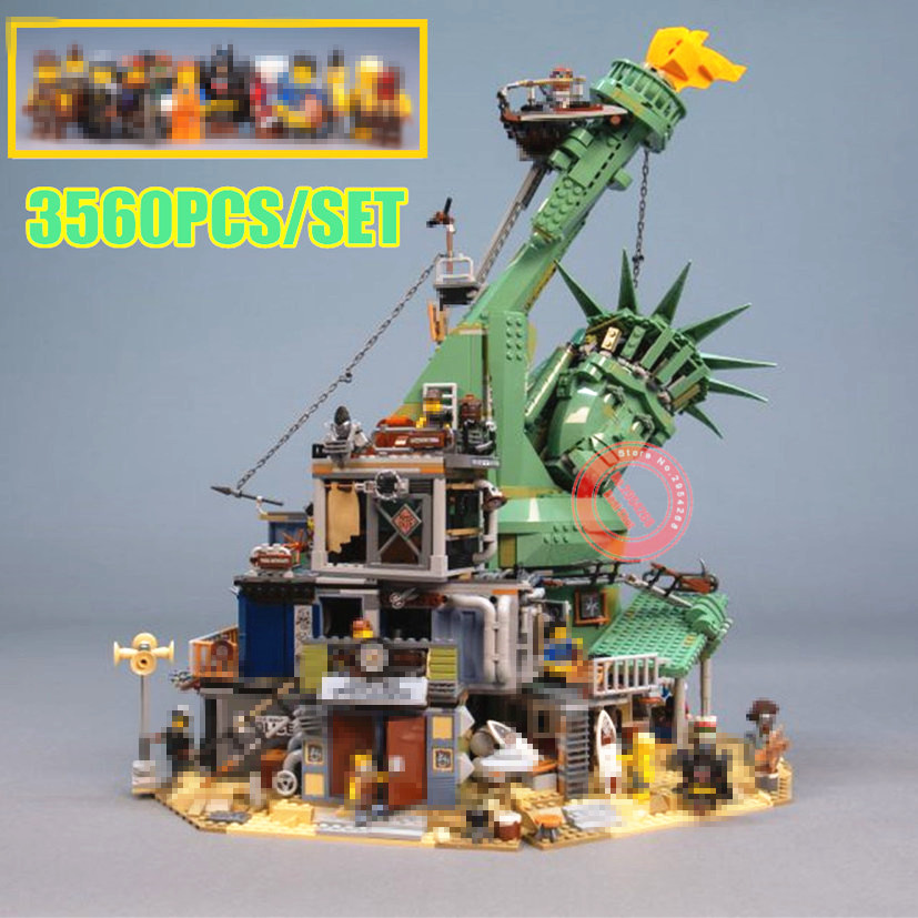 New 3560pcs Movie Welcome to APOCALYPSEBURG fit city Technic Building Block Bricks Kid Toys Christmas Gift