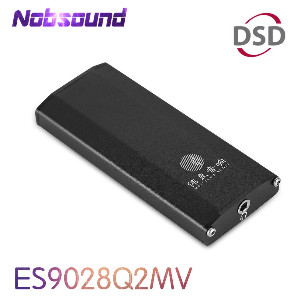 Nobsound Mini DAC ES9028Q2M SE4 Portable Amplifier DSD HiFi Audio USB Decoder for PC and Phone