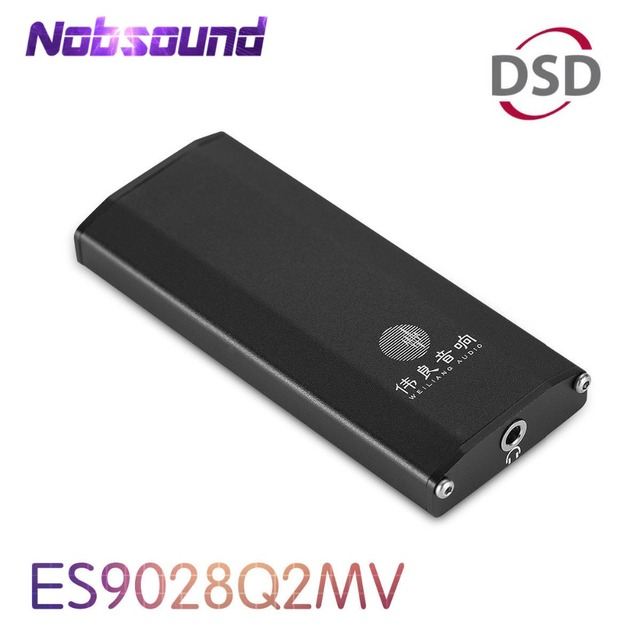 Nobsound Mini DAC ES9028Q2M SE4 Portable Amplifier DSD HiFi Audio USB Decoder for PC and Phone With Headphone Jack
