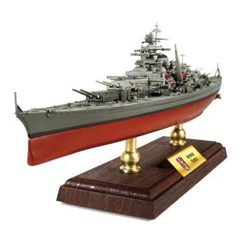FOV 1/700 Scale Military Model Toys German Tirpitz Battleship Diecast Metal Warship Model Toy For Collection,Gift,Decoration
