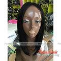 Hot Hair Style Short Cut Synthetic Lace Front Wig With Baby Hair Black Color Heat Resistant Straight Bob Wigs For Black Women