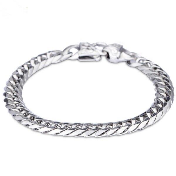 MB306 Bracelet 22CM Width 0.93CM 316L Stainless Steel Jewlery Men Gift Jewelry Skull Silver Bangle,Fahion, modern, wholesale