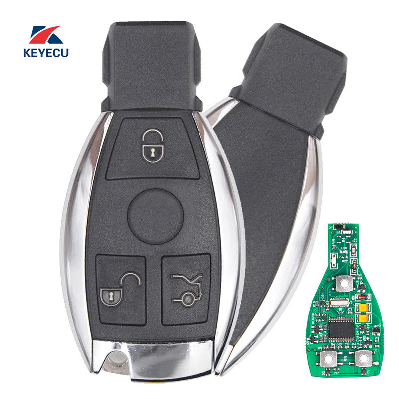 KEYECU KYDZ Smart Key 3 Buttons 315MHz/433MHz for Mercedes Benz Auto Remote Key Support NEC And BGA 2000+ Year