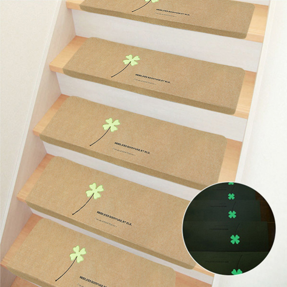5pcs/set Creative Luminous Staircase Mat Glowing Non-slip Floor Carpet Self Adhesive Stepping Mads Stair Treads Protector Pad