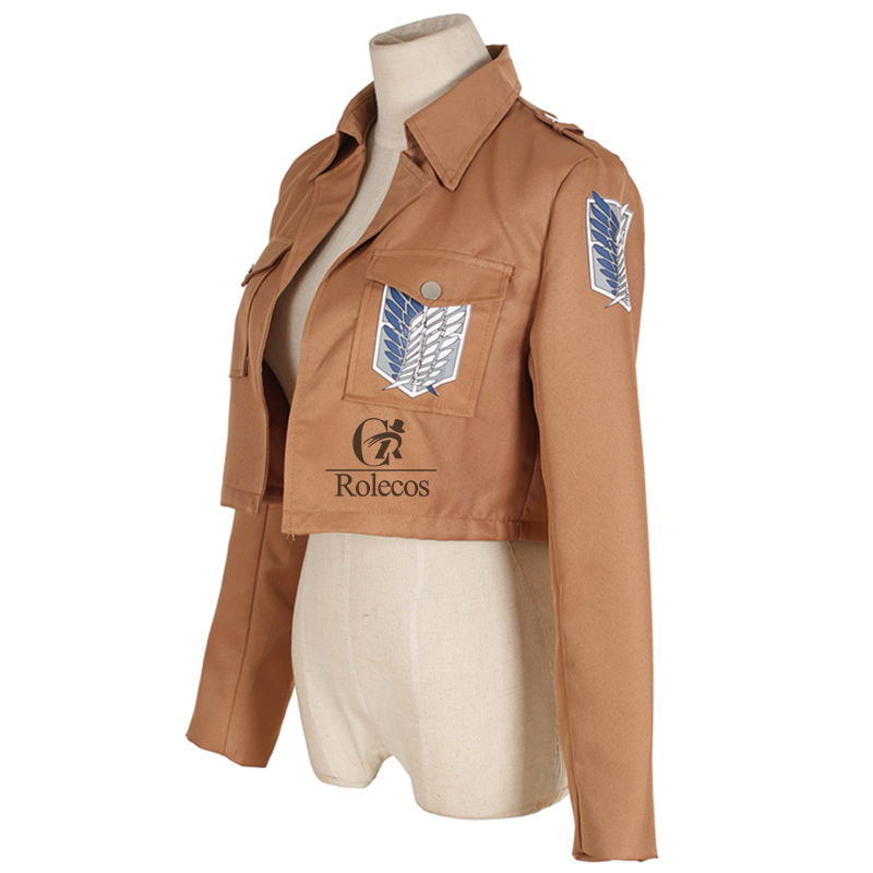 Rolecos Attack on Titan Jacket Shingeki no Kyojin Scouting Legion Cosplay Costume Anime Cosplay Jacket Coat