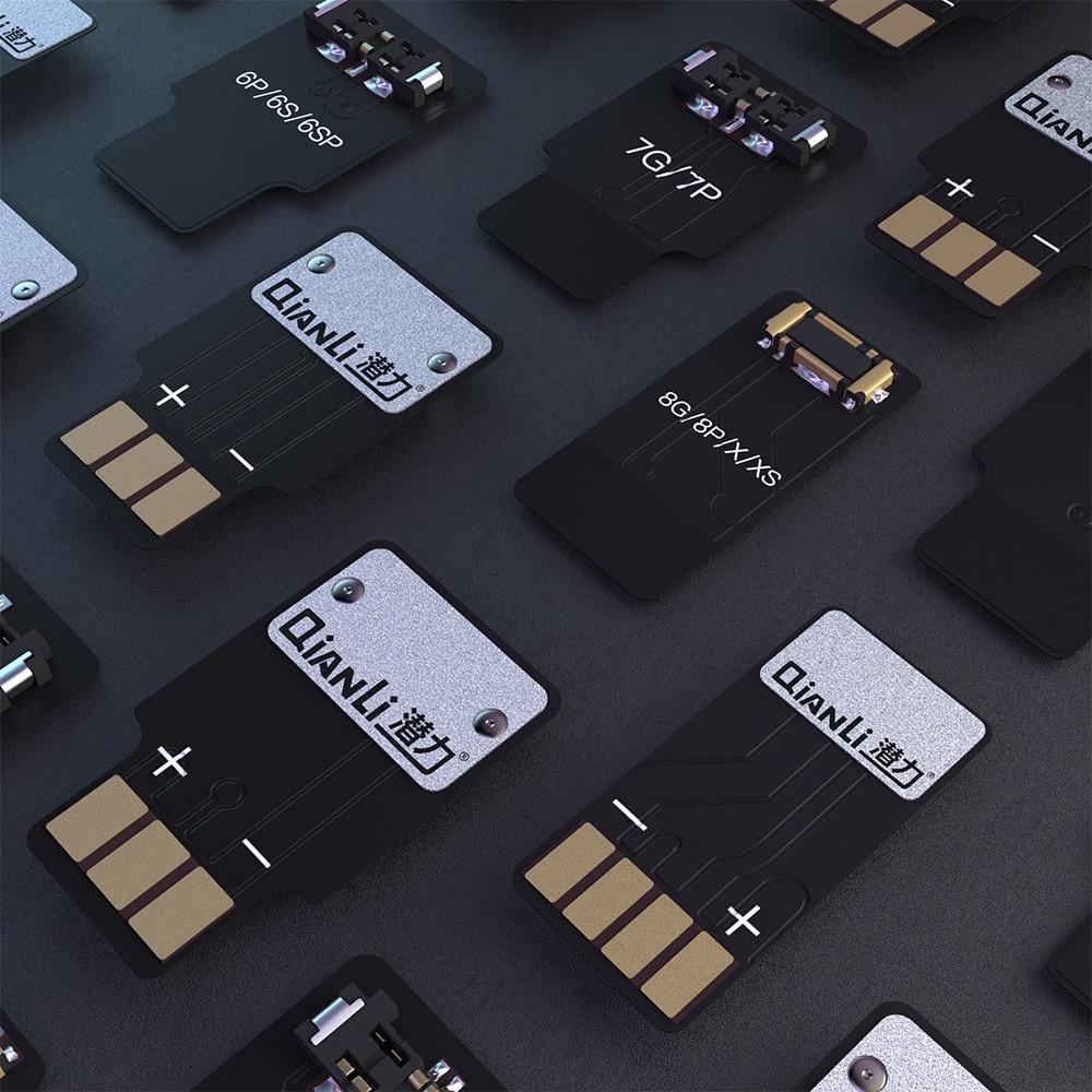 Купить с кэшбэком Qianli iPhone XS x 8P 8 7p 7 6sp 6S 6p 6 power line connection panel   4pcs/lot ,  Battery connection panel