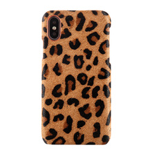 Genuine Leather case For Iphone X XR Women Sexy Leopard cover Apple iphone Phone cases with Hair Marvel Luxury Armor