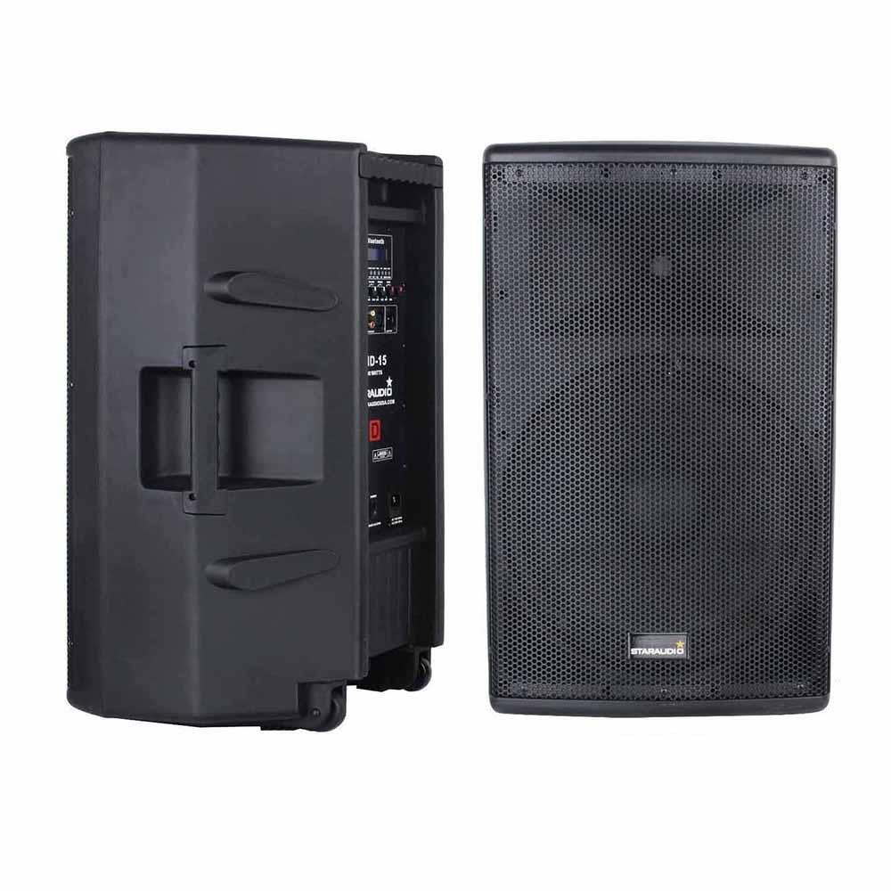 STARAUDIO 15 pouces 4000 W classe D karaoké actif KTV scène alimenté PA DJ haut-parleur 4 ohms 2 voies scène Audio Bluetooth haut-parleur