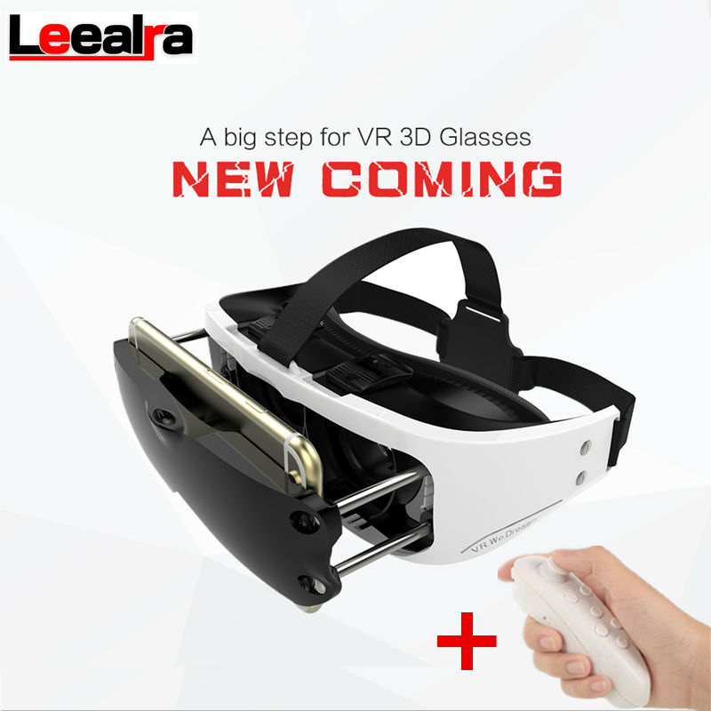 New VR eyes Virtual Reality 3D Video games Glasses Google Carboard vr box helmet for Iphone 3.5-6 inch + Remote Control Gamepad