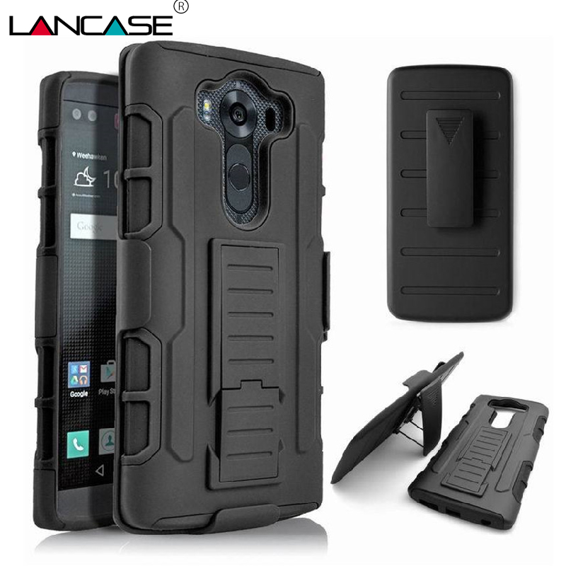 Lancase For Lg G3 Case Stand Armor Hard Cover Belt Clip