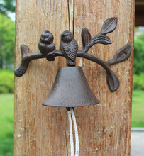 Rustic Cast Iron Doorbell Bird, Small