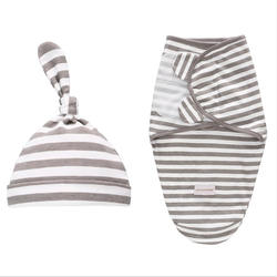 LAT 2 шт. набор пеленки для новорожденного + шляпа хлопок детские одеяло для новорожденных постельное белье мультфильм милый спальный