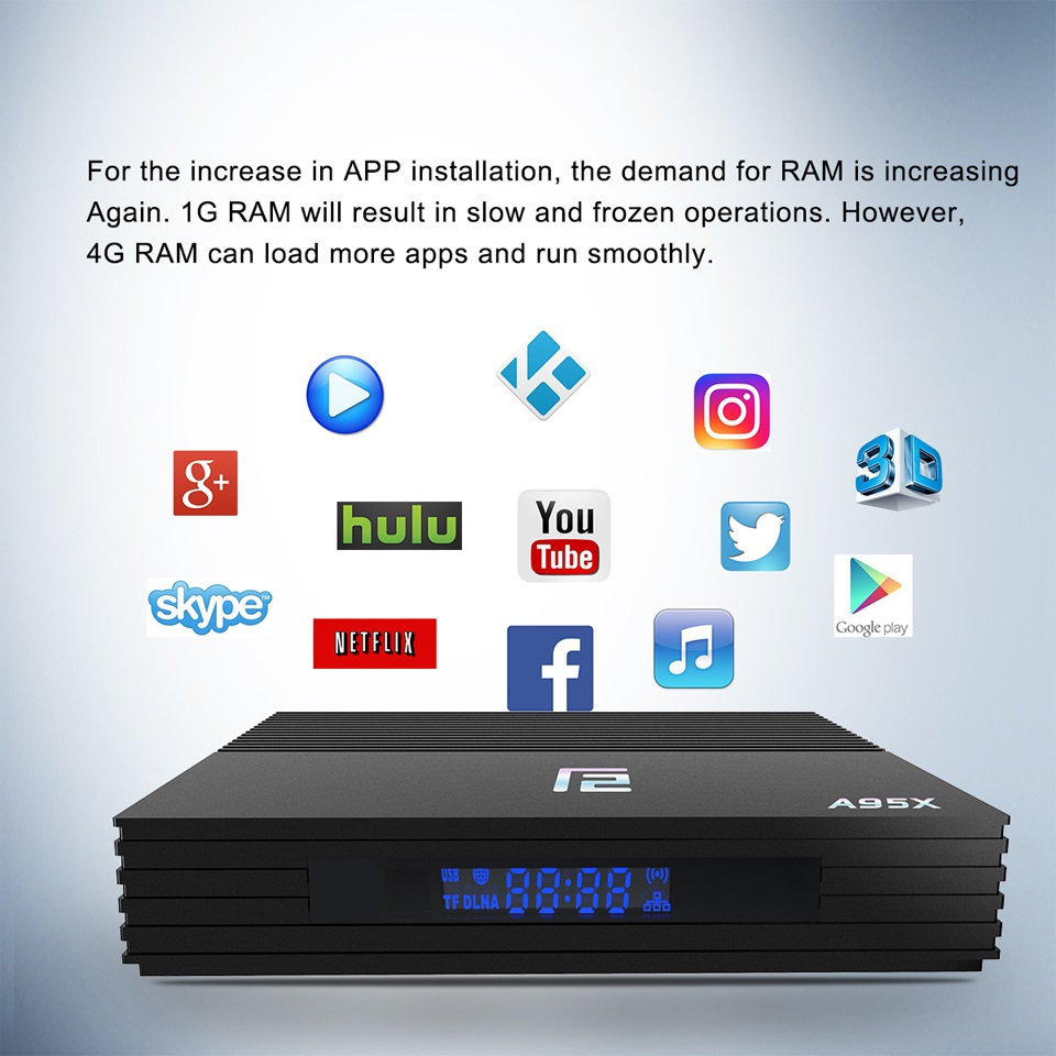 Android TV BOX A95X F2 décodeur commande vocale 4K 2.4G & 5G double bande WIFI Bluetooth LAN USB3.0 HDMI 4G 64G TV Box Android 9.0 - 3