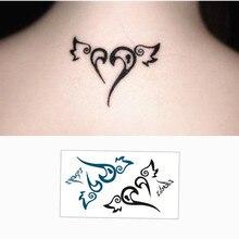 SHNAPIGN Winged Heart Flash Tattoo Hand Sticker 10.5x6cm Small Waterproof Henna Beauty Temporary Body Sticker Art FREE SHIPPING