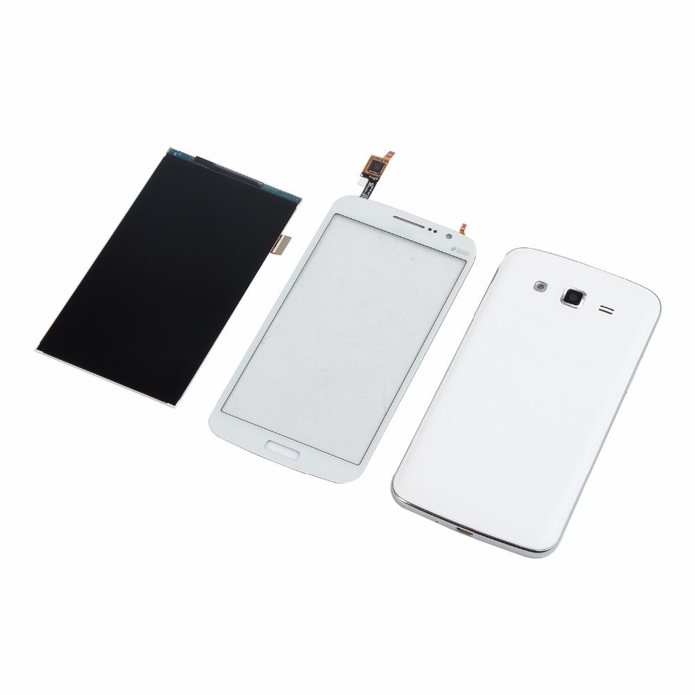 Para Samsung Galaxy Grand 2 II Duos G7102 G7106 Display LCD Touch Screen Digitador + Habitação Oriente quadro de Volta Da Bateria cobrir