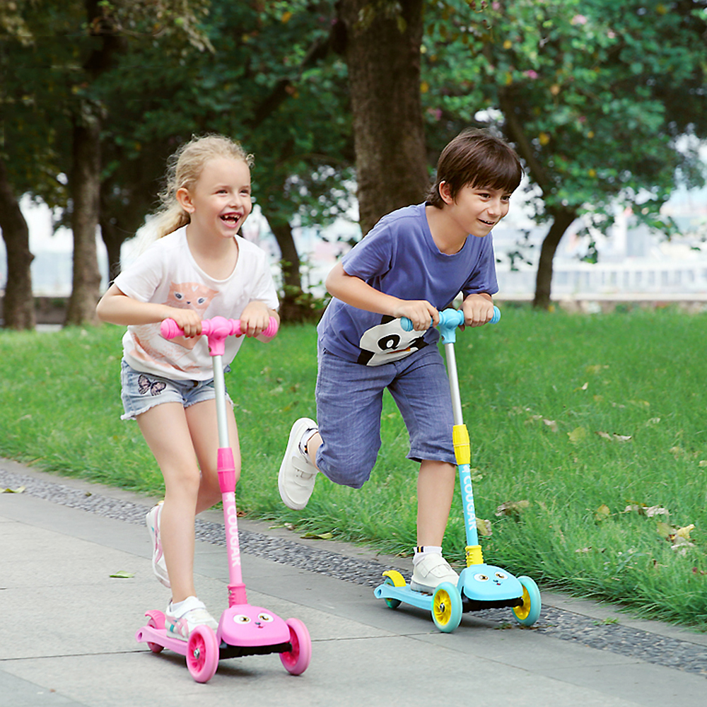 Image 5 - 2019 3 Wheels Folding Scooter with Light Up Wheels Adjustable Height for Kids Girls Boys Toys Gifts for Kids Outdoor Toy Scooter-in Skate Board from Sports & Entertainment