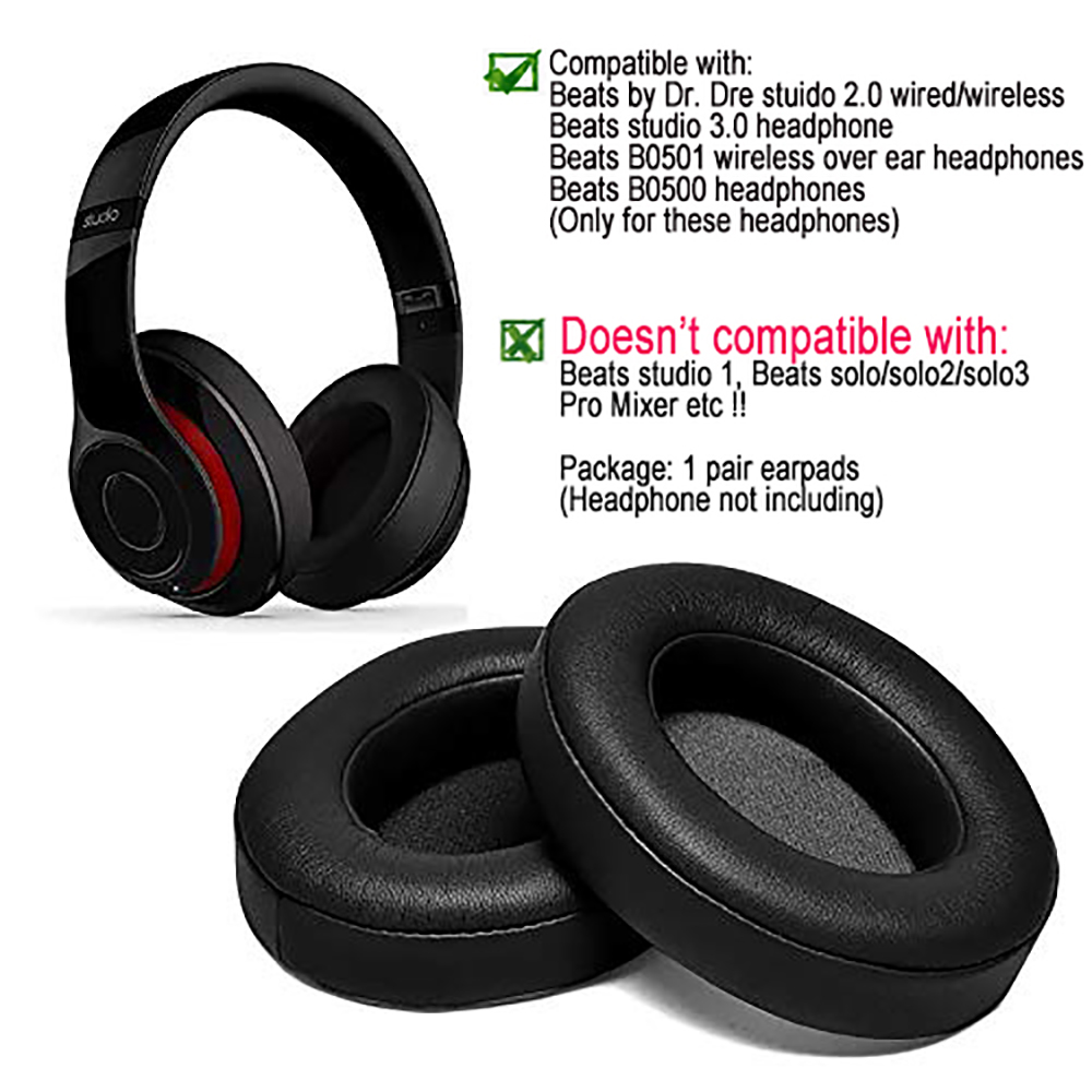 Black Replacement Ear Pads Cushion Headphone Ear Pad For Beats By Dr Dre Studio 2 0 Studio 3 0 B0500 B0501 Wireless Headset Headphones Ear Pads Headphone Replacement Ear Padsreplacement Headphone Ear Pads Aliexpress