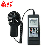AZ8901 Handheld Air Temperature Tester and Air Flow Meter Wind Speed Meter range: 0.4~ 35 m / s Handheld RS232 Output Anemometer