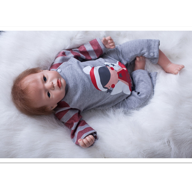 19''  Real Reborn Babies Boneca Toys for Girls Birthday/Christmas Gifts,Realistic Reborn Doll Vinyl Silicone Dolls with Clothes