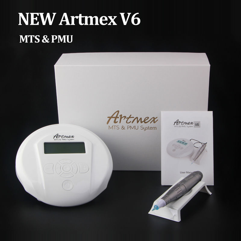 Derma Pen Permanent Makeup Machine Artmex V6 Eye Brow Lip Rotary Pen V6 Tattoo Machine MTS PMU System With V6 Tattoo Needle