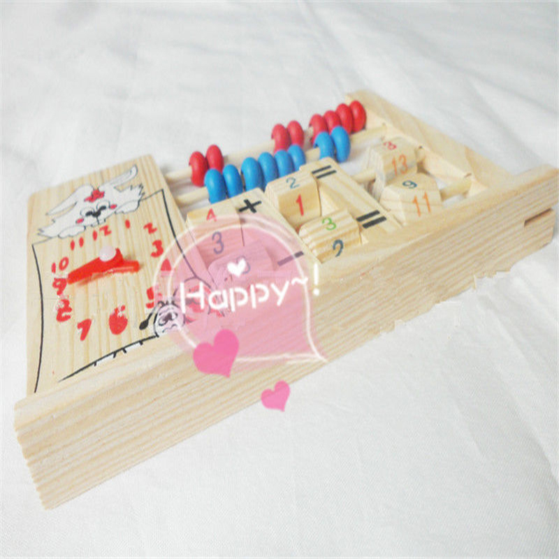 Wooden 2 Row Abacus Counting 8 Beads Per row Maths Learning ...