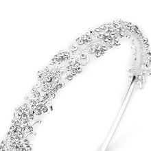 MAKE Hot Silver-plated Crystal Flower Bridal Jewelry Tiara Hair Band Wedding Top