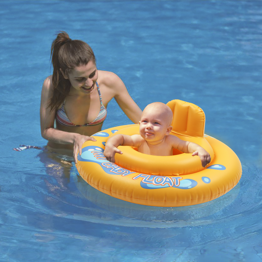 MrY Cartoon Float Inflatable Seat Ring Baby Child Bath Swimming Lifebuoy Round Summer Kids Swim Pool 2 Circles Hollow