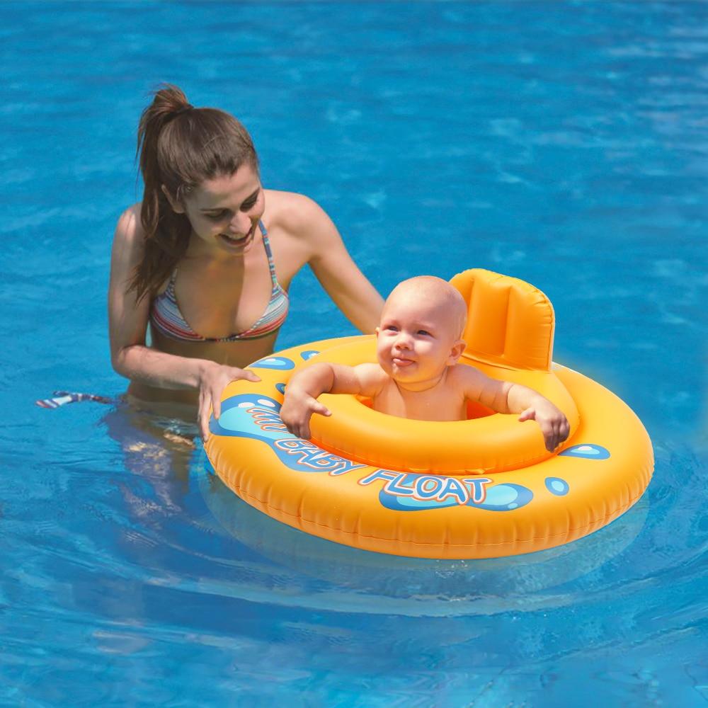 MrY Cartoon Float Inflatable Seat Ring Baby Child Bath Swimming Lifebuoy Round Summer Kids Swim Pool 2 Circles Hollow