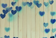Laeacco Blue Love Heart Wooden Board Short Scene Photographic Backgrounds Customized Photography Backdrops For Photo Studio