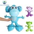 3 Peças/set 40*50 cm Inflável Pequeno Macaco Crianças Brinquedos Decoração Balão Fontes Do Partido de Aniversário Do Bebê Dos Miúdos Brinquedo Do Jardim de Infância