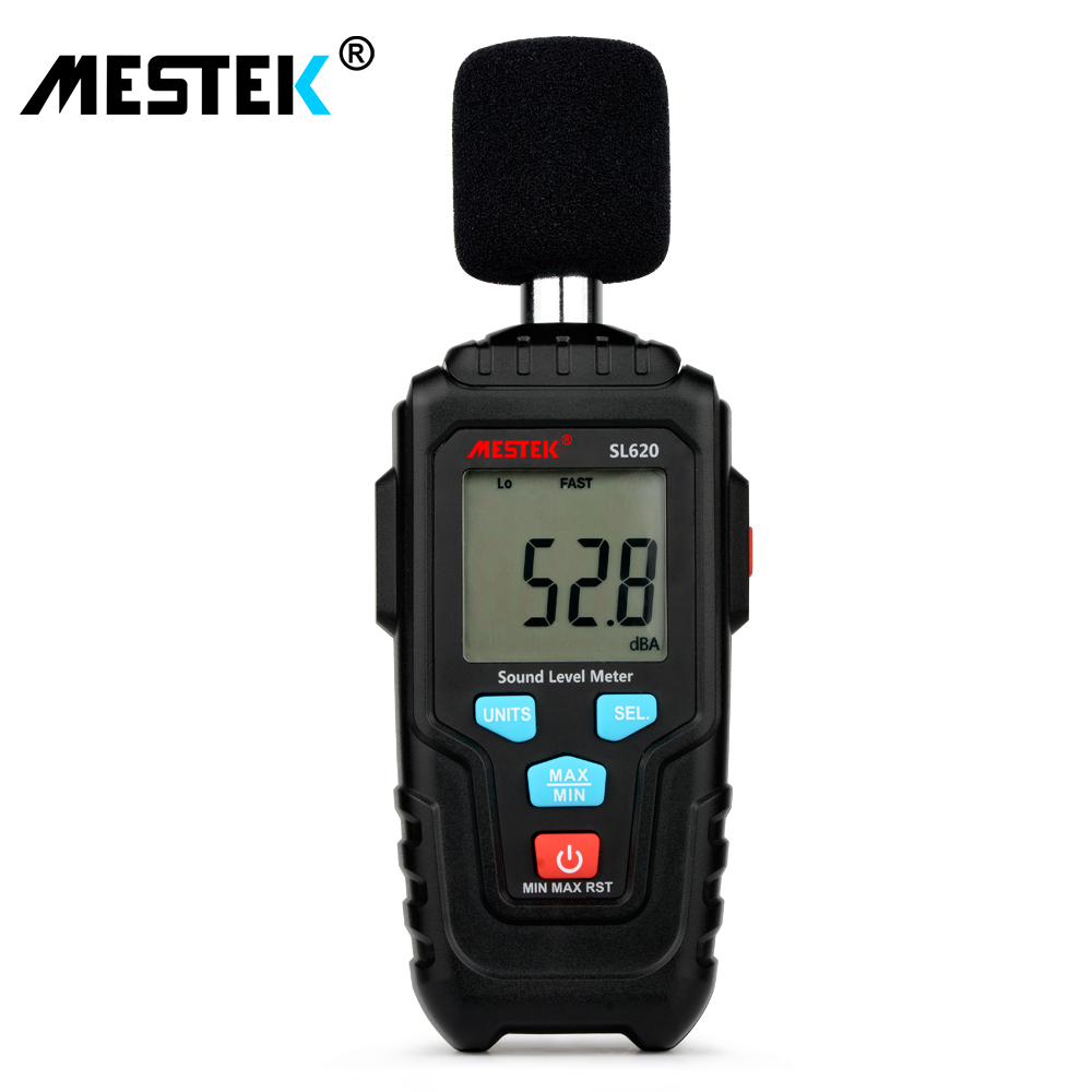 MESTEK Decibel Meter Audio Level Meter Logger 30-135dB Noise Measurement Sound Level Meter Detector Diagnostic Tool SL620