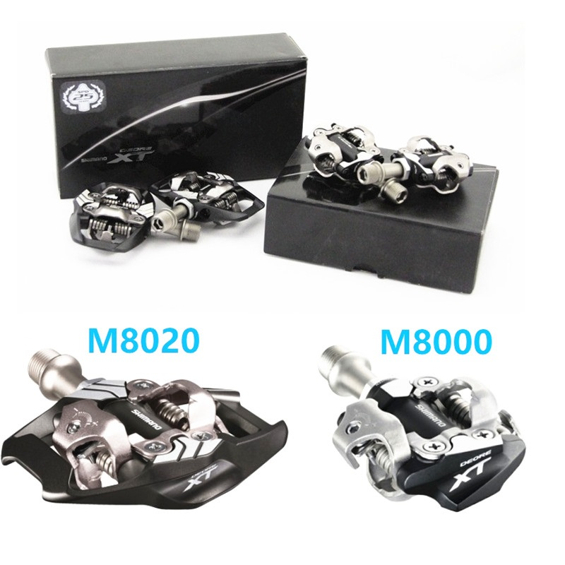 SHIMANO Pedals DEORE XT PD M8000 M8020 Self Locking Pedal With SPD Cleat Set MTB Mountain