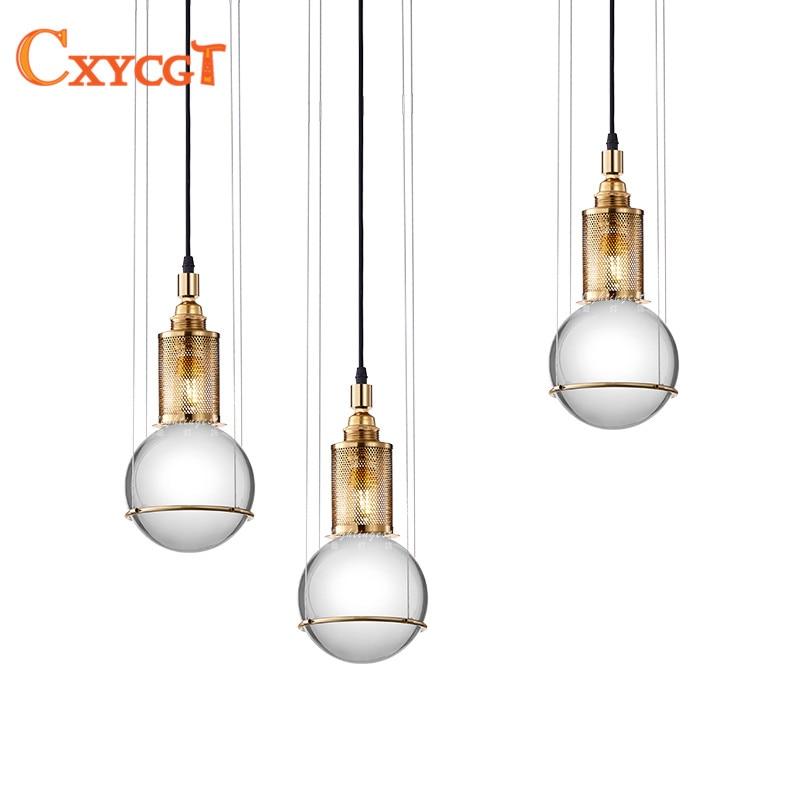Nordic crystal ball hollow chandelier LED postmodern minimalist for living room bedroom bar restaurant lighting can