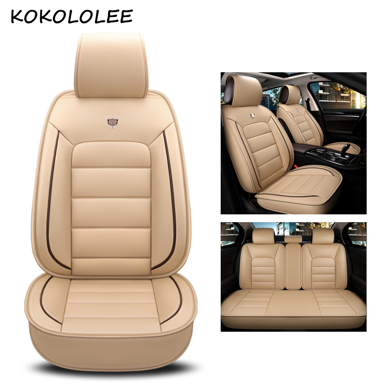kokololee pu leather car seat cover For bmw e60 f11 kia rio 3 4 honda accord 2003-2007 suzuki jimny car styling car accessories kadulee ice silk car seat covers for honda city opel astra k lancia ypsilon honda accord 2003 2007 for land rover car styling