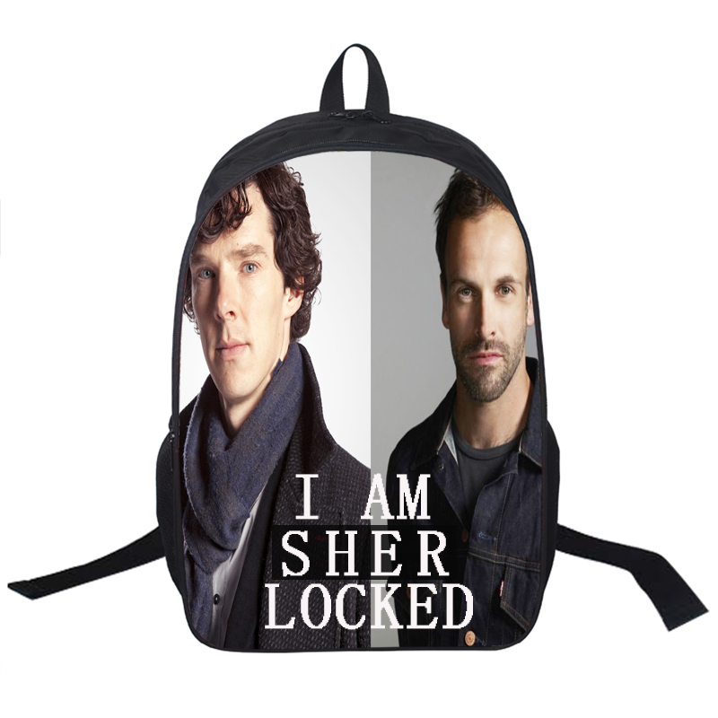 Sherlock / Elementary Backpack For Teenagers Men Women Daily Backpacks Children School Bags Boys Girls School Backpack Kids Bag