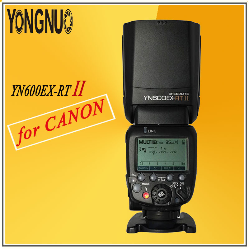 YONGNUO YN600EX-RT II Flash Speedlite Wireless HSS 1/8000s 2.4G Master TTL Speedlight for Canon Camera as 600EX-RT YN600EX RT II yongnuo yn600ex rt ii flash speedlite 2 4g wireless hss 1 8000s master ttl speedlight for canon dslr as 600ex rt yn600ex rt ii