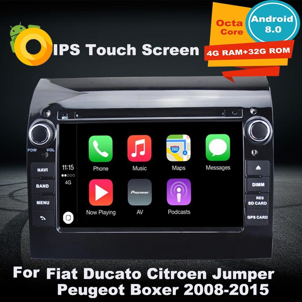 Поддержка Apple Carplay Android8.0 Автомобильная Радио Навигация GPS, DVD мультимедийный плеер для Fiat Ducato CITROEN Jumper PEUGEOT Boxer 2008 2015