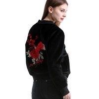 Bomber Baseball Jacket For Women 2018 Fashion Zipper Basic Long Sleeves Printed Jacket Casual Outerwear Coat