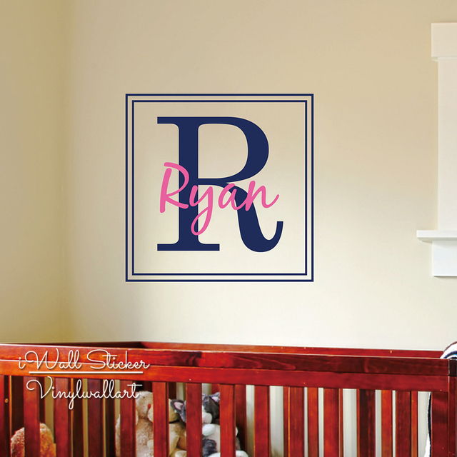 Aliexpresscom  Buy Custom Name Wall Sticker Frame Name Wall - Custom cut vinyl wall decals
