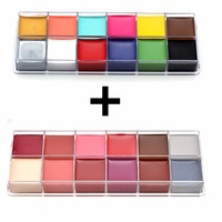 12 Colors Body Face Paint Oil Painting Art for Halloween Party Art Tool Supplies
