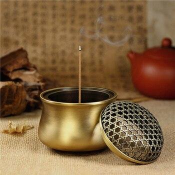Beautiful Fancy Metal Blue Brass Copper Coils incense Zinc Alloy Censer Thurible burner Coil Incense burner Incensory