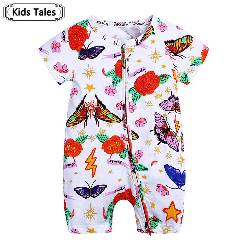 2019 Toddler Baby Kids Girls Boys Clothes O-neck Short Sleeve   Romper   Cotton Summer Newborn Jumpsuit one pieces SR424
